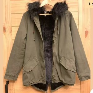 Jou Jou faux fur trimmed hooded jacket